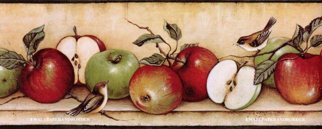Kitchen Shelf Vintage Enamelware Apples Baking Apple Pie Wallpaper Border For Sale Online Ebay