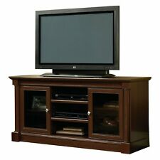Sauder 420714 Palladia Corner Entertainment Credenza Vintage Oak Finish for TVs up to 60