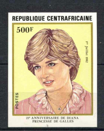 Cen. African Rep. 1982 SG#841, 500f 21st Birthday Princess Diana Imperf #A66489
