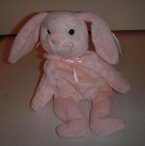 "Ty Beanie Baby ""Hoppity"" The Pink Rabbit - DOB: 4-3-96 - NWT"