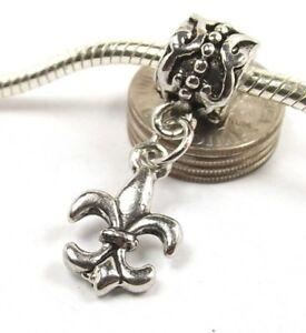 5dbb39c61 Fleur De Lis Dangle Screw Threaded Stopper Lock Bead for European ...