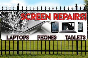Laptop Mobile Phone etc iPhone Cracked Screen Repair Banner for iPad Tablet