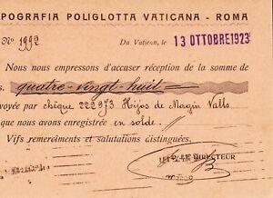 Postal-Italie-Roma-Typographie-Francaise-Neuf-Poliglotta-Annee-1923-MBC