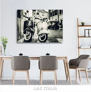Vespa vintage 4 QUADRO 100x70 QUADRI MODERNI SCOOTER ARREDAMENTO ...