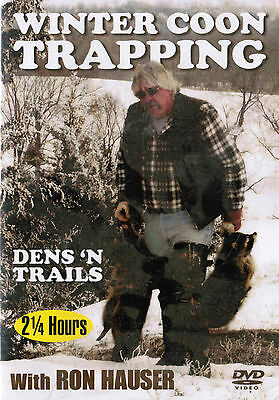 DVD, Hauser, Winter Coon Trapping, traps, trap,snares