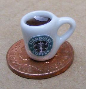 1-12-Keramiktasse-Von-Starbuck-Kaffee-Puppenhaus-Miniatur-Kuechenzubehoer