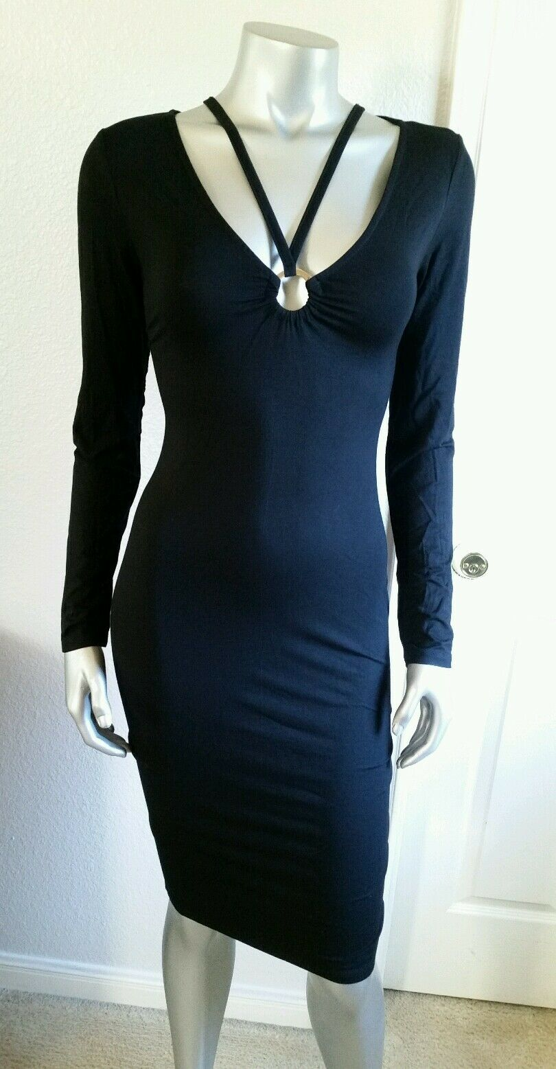 100 % AUTHENTIC NWT BEBE AMBER ALANNA RING ANS STRAP  DRESS SIZE SMALL