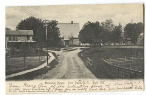 Postcard-Memorial-House-New-Paltz-NY-1906