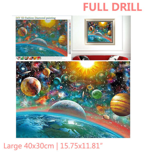 Full Drill Universe Galaxy Planet 5D Diamond Painting Cross Stitch DIY Kit Gift