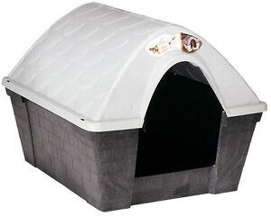 Casette Per Cani In Plastica.Dettagli Su Cuccia Per Cane In Plastica Resina Coibentata Modello Casa Felice Taglia Media