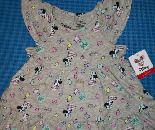 @*DISNEY MINNIE MOUSE GRAPHIC PRINT TIERED DRESS*@NWT 2T 3T 4T 5T