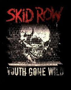 SKID-ROW-cd-lgo-Youth-Gone-Wild-SKULL-GRAFFITI-Official-SHIRT-XXL-2X-new
