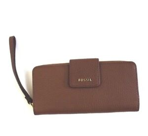 Fossil-Madison-Zip-Clutch-Wristlet-Wallet-Medium-Brown-Authentic-SWL1575210