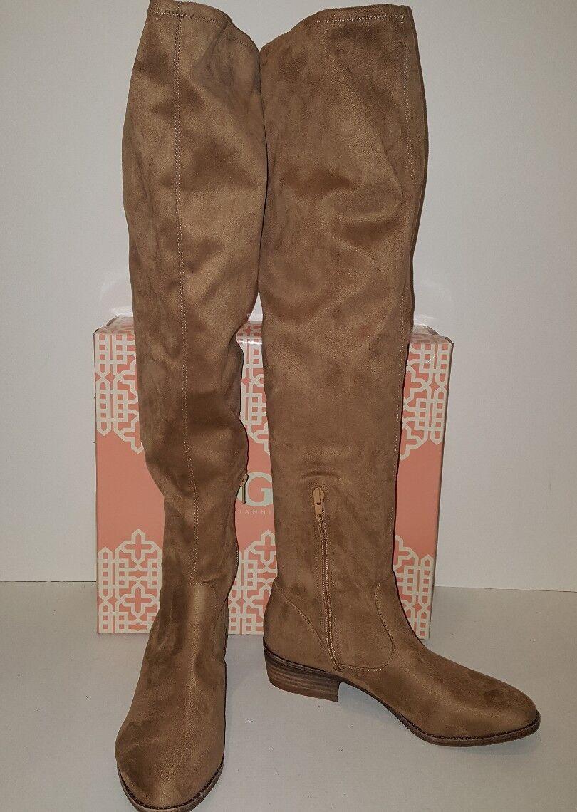 Gianni Bini GB Show On Marizapan Suede Womens Knee High Boots Sz 7.5M New W Box