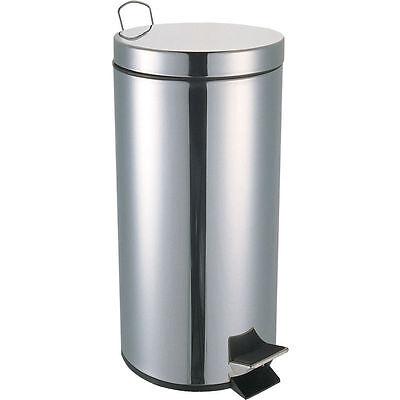 Pedal Bin Set 5 12 20 30 Litre Bathroom Office Waste Stainless Steel Home Modern