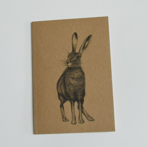 Badger dragonfly hare gifts Set 3 eco notebooks A6 Wildlife illustrations