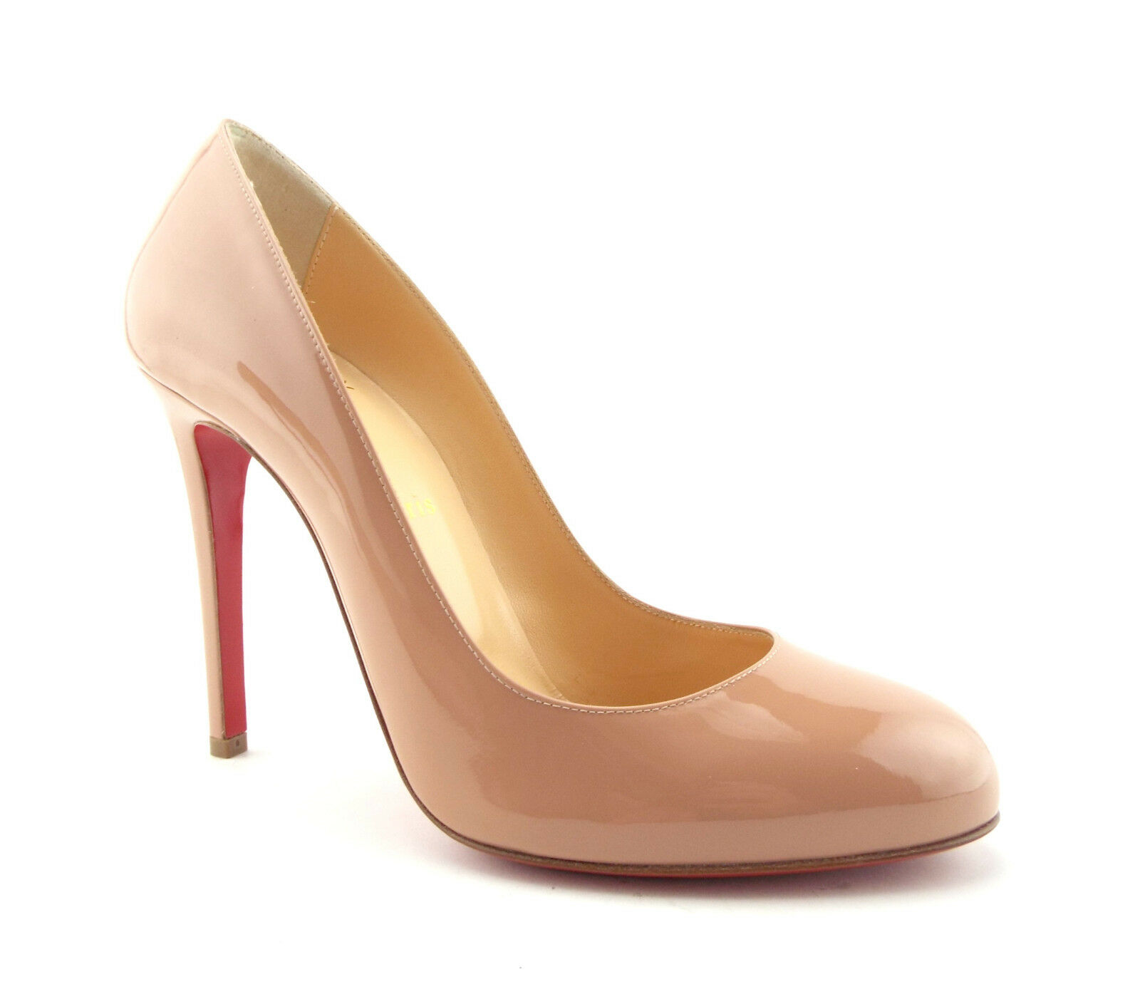 New CHRISTIAN LOUBOUTIN Size 8.5 FIFILLE Nude Patent Heels Pumps shoes 39 FIFI