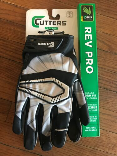 New Cutters C-Tack Rev Pro Receiver Football Gloves Adult M Flexible All Weather