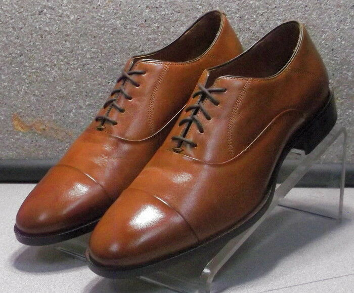 5912312 ES50 Chaussures Hommes Taille 9 M marron clair en cuir à lacets Johnston & Murphy