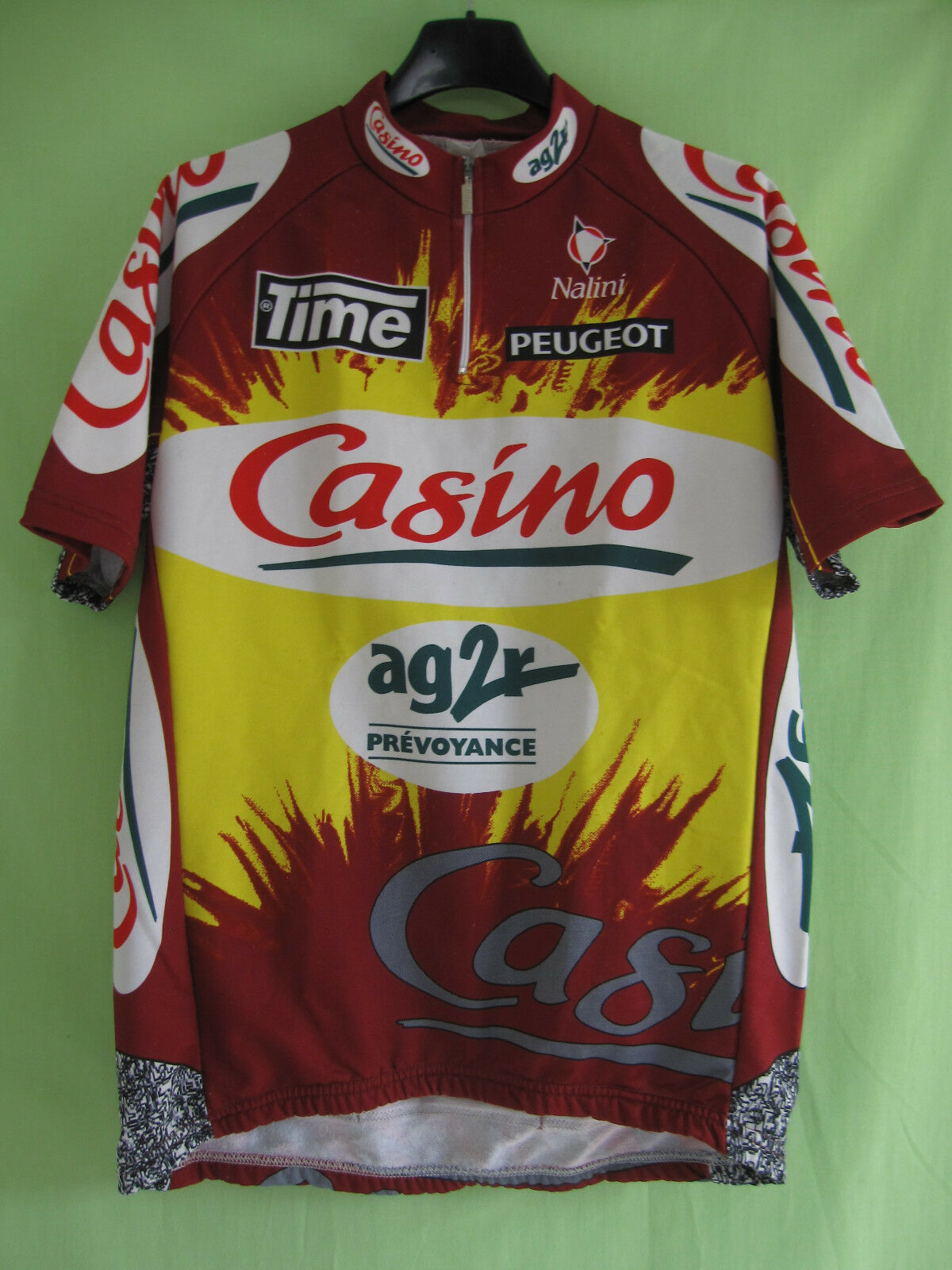 Maillot cycliste Casino Ag2r Time Peugeot vintage jersey Cycling - 4   L