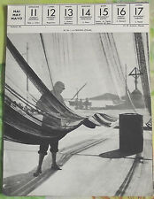 1957 ITALIE A PROCIDA Filet et Pêcheur sur le port