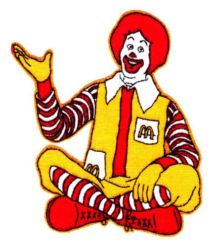 "2.5/"" Ronald McDonald McDonalds sur Tissu Iron on personnage"