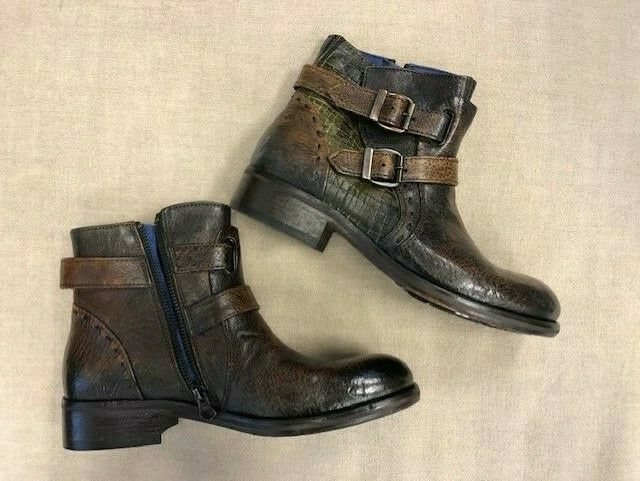 Sundance Catalog  Kalamundi  Boots Women's Leather Double Buckle New