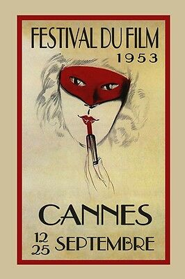 International Festival Film Movie 1952 Cannes Vintage Poster Repro FREE S//H