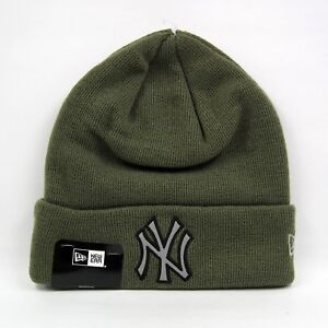 14d9e31519b New Era Men s MLB New York Yankees Night Ops Olive Green Winter Knit ...