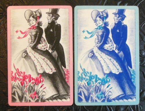 Southern Belle Man Gone With the Wind Like Original Vintage Swap Playing Cards