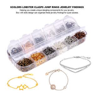 120pcs-Lobster-Clasps-Hooks-840pcs-DIY-Making-Jewelry-Findings-Metal-Jump-Rings
