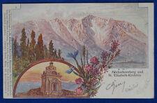 """AUSTRIA Österreich Hochschneeberg St. Elisabeth illustrata viag""""900 f/p #13213"""