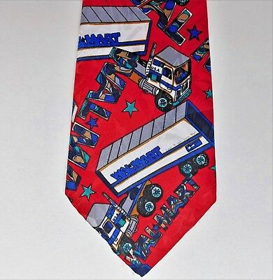 Wal Mart novelty corporate tie Lorry truck drivers American supermarket company