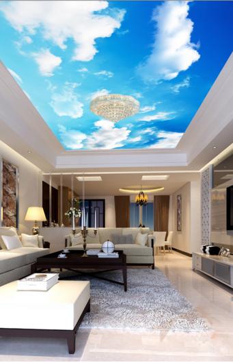 3D Himmel Weie Wolken 5084 Fototapeten Wandbild Fototapete BildTapete DE Lemon
