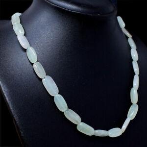 Beautiful 150.50 Cts Natural Blue Aquamarine Unheated Round Shape Beads Necklace