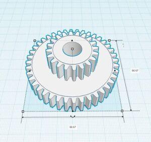 "ATLAS CRAFTSMAN 10"" & 12"" Lathe 20 / 40 tooth compaund Nylon change Gear"