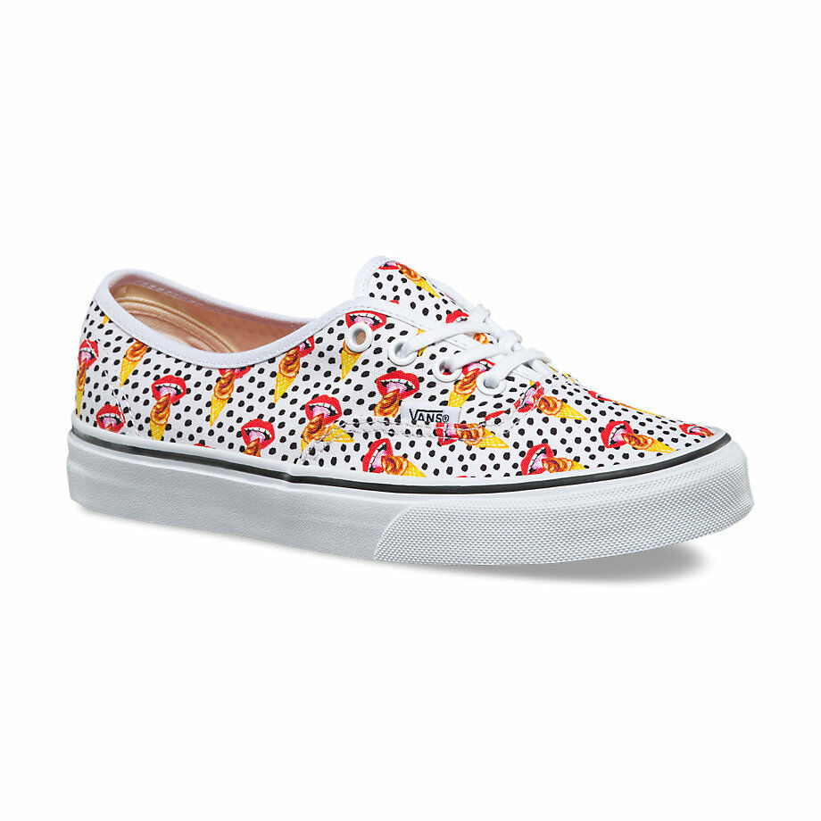 Vans AUTHENTIC Womens Shoes (NEW) Kendra Dandy I SCREAM Lips Ice Cream FREE SHIP