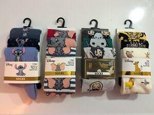 Disney Dumbo Pack Of 3 Pairs Socks Womens Ladies Casual UK 4-8 Size Primark Gift