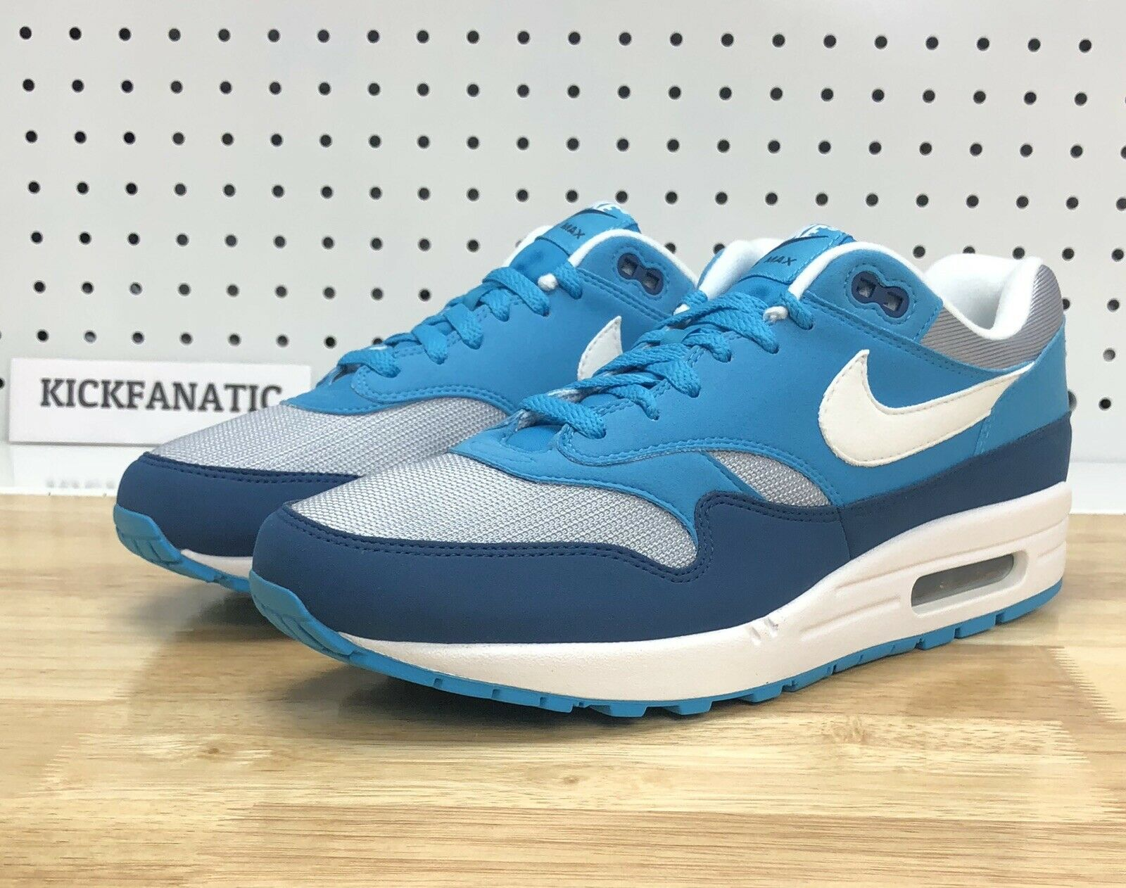 Nike Air Max 1 One Grey White Light bluee Running shoes 11.5 AH8145-002