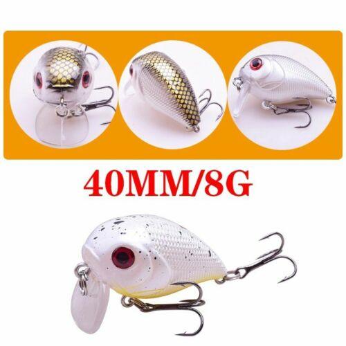 Details about  /Fishing Artificial Lures Floating Minnow Crank Hard Wobbler Hook Crankbait Bass