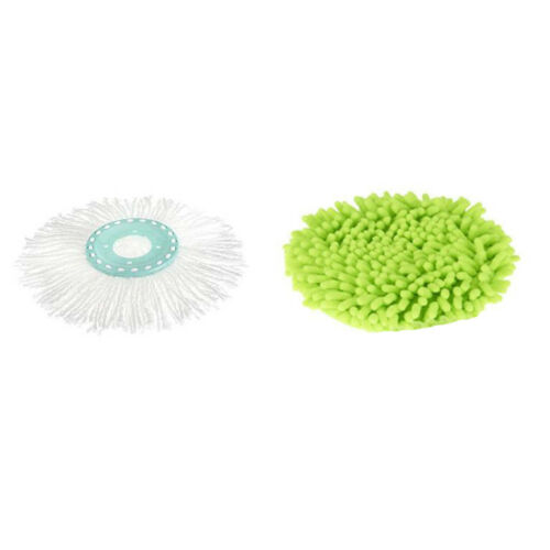 Spin /& Go Pro Replacement Mop Head and Microfiber Duster Cover Package