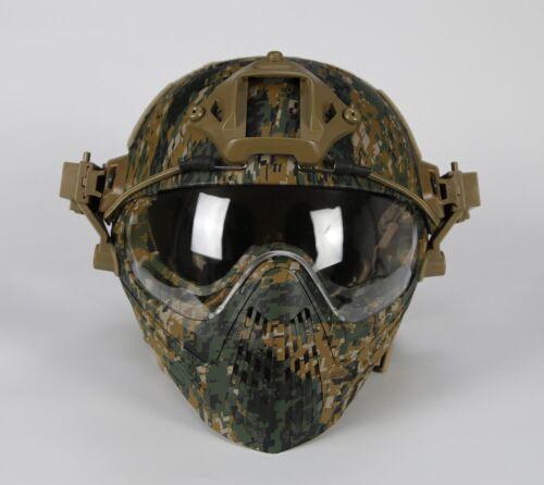 Airsoft Taktische Paintball War Schutzhelm Helmet Schutzmaske Goggle Lens L /& S