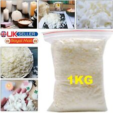 Soya Wax 1KG Soy Wax Flakes 100% Pure, Clean Burning, No Soot, Natural Soy Wax