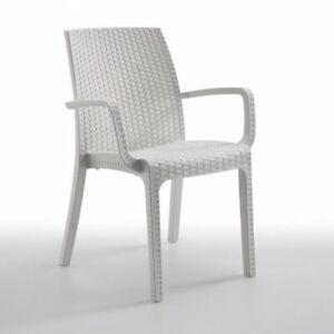 Sedia da giardino senza braccioli grigio antracite Indy per arredamento esterni