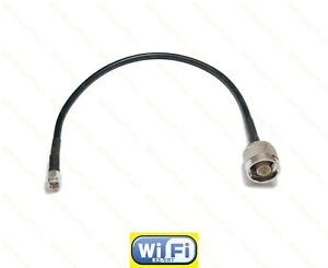 1-foot-SILVER-Plated-N-male-to-SMA-male-RF-Pigtail-Cable-RG58-SHIPS-FROM-USA