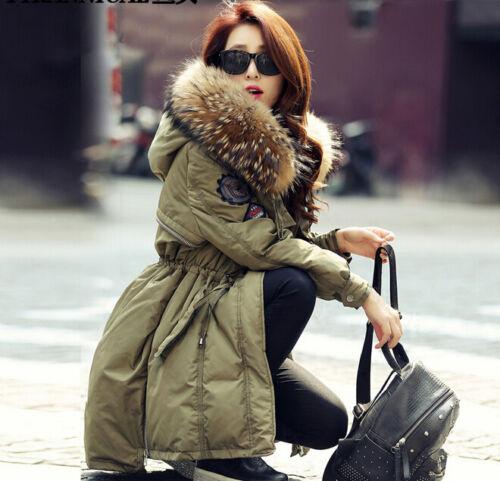 lusso donna cappuccio di da con donna in invernale da d'oca piuma Giacca wtY8II