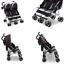 Scout Double Stroller Lunar Burgundy Extendable European StyleCanopy Lightweight