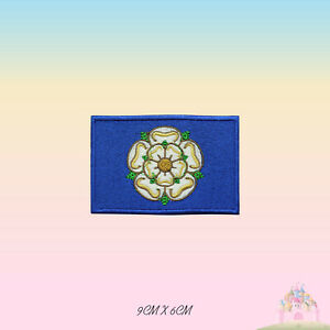 YORKSHIRE UK County Flag Embroidered Iron On Patch Sew On Badge