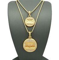 Hip Hop Gold Last Supper Double Pendant W/ 24 30 Box Chain Necklace Set Mm003g