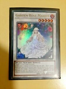 Yugioh Garden Rose Maiden LED4 Ultra 1st Ed Card NM